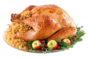 Christmas roast turkey