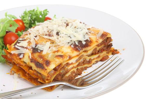 Lasagne-cooked pasta dish