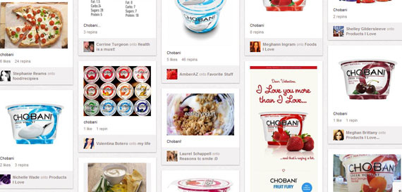 Food Brands on Pinterest