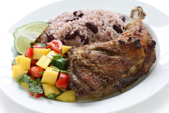 Spicy jerk chicken